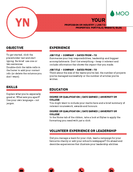 ms word resume templates  2020 list of 10  templates  free