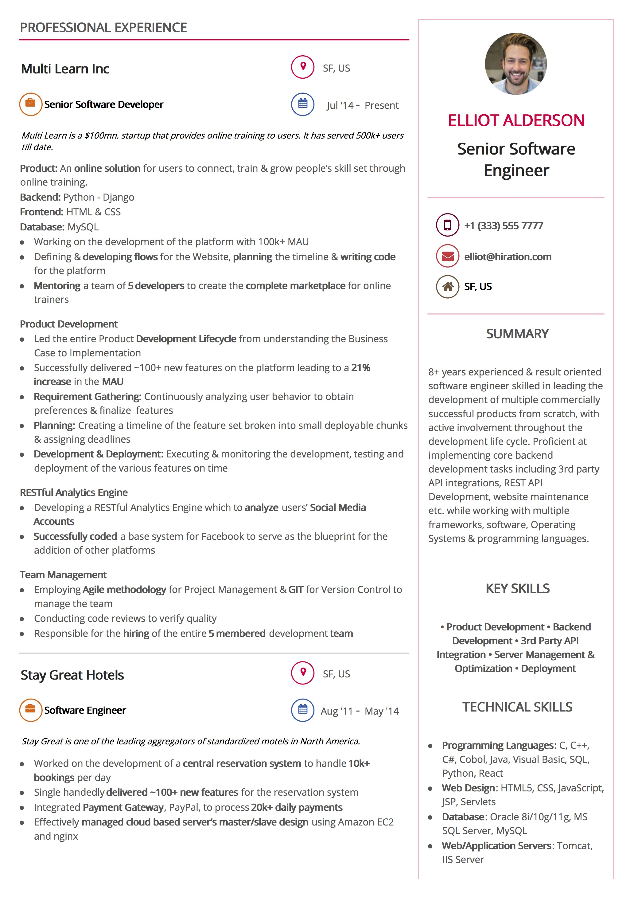 Resume Template: Trendy Design