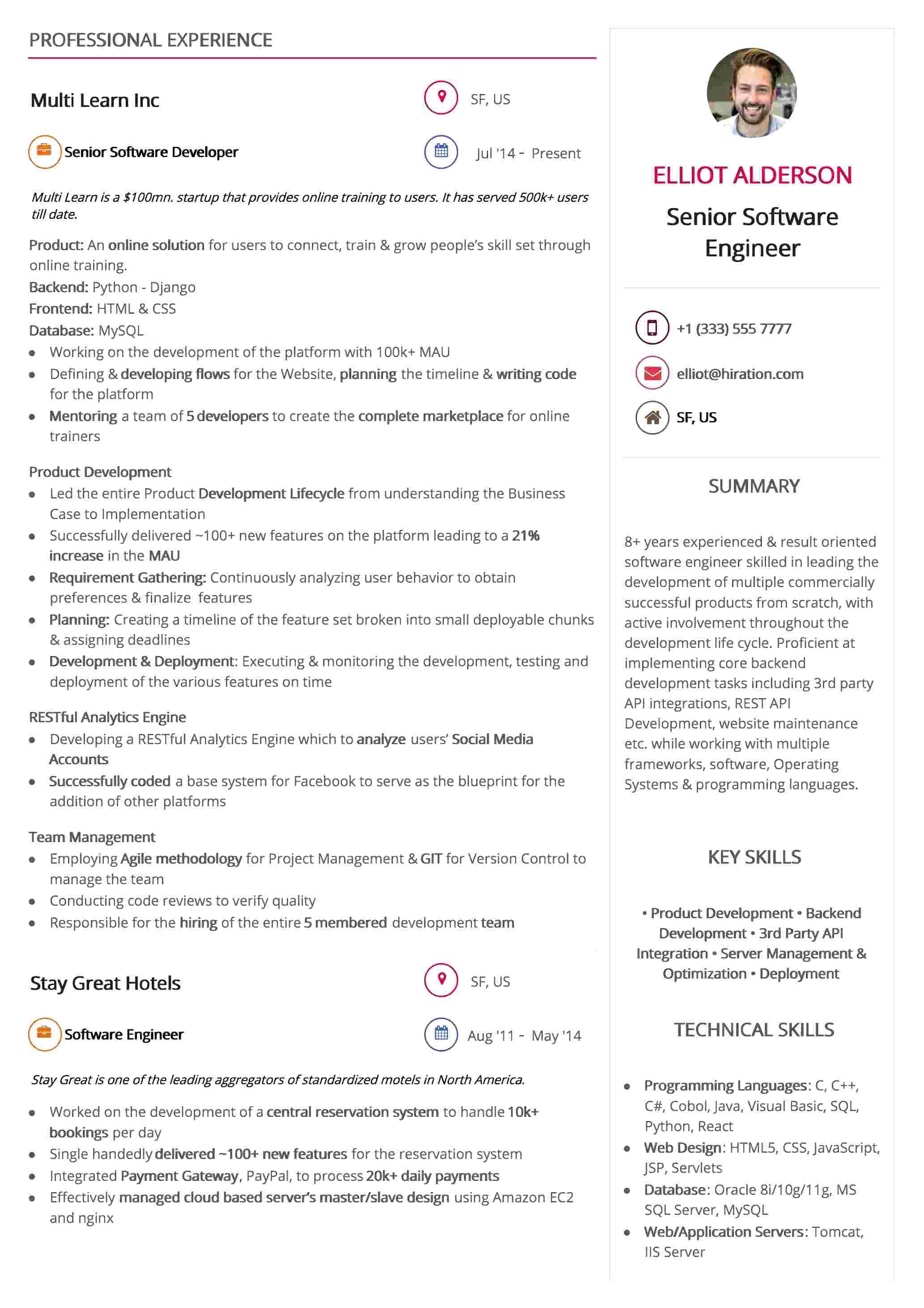 Resume Template: Trendy Design