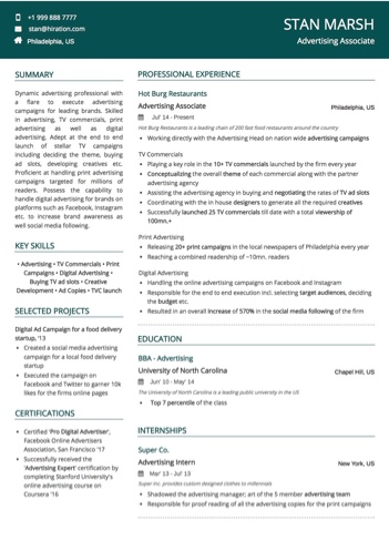 marketing resume examples and samples