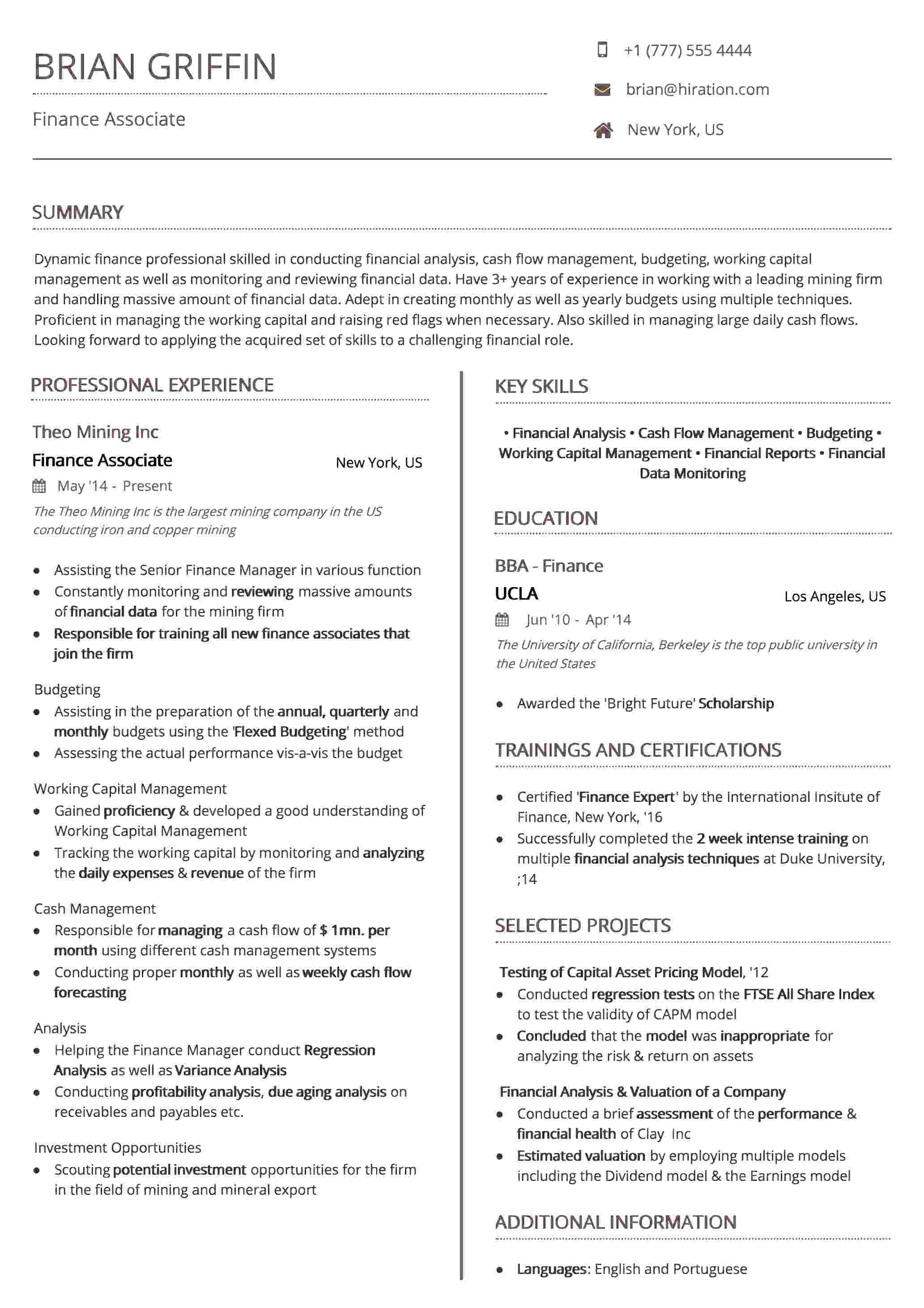 Resume Template: Uniform Brown