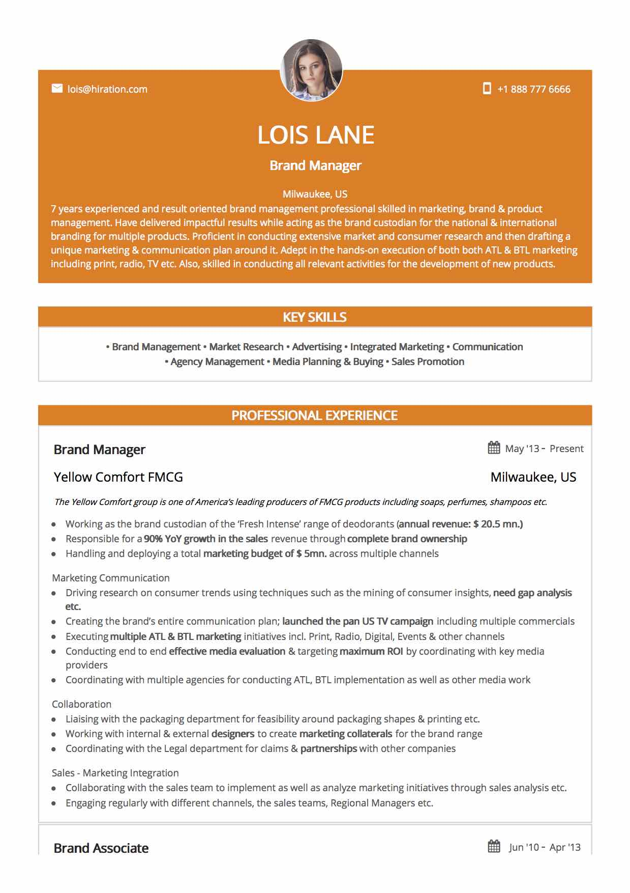 30 Resume Templates By For Every Professional Hiration