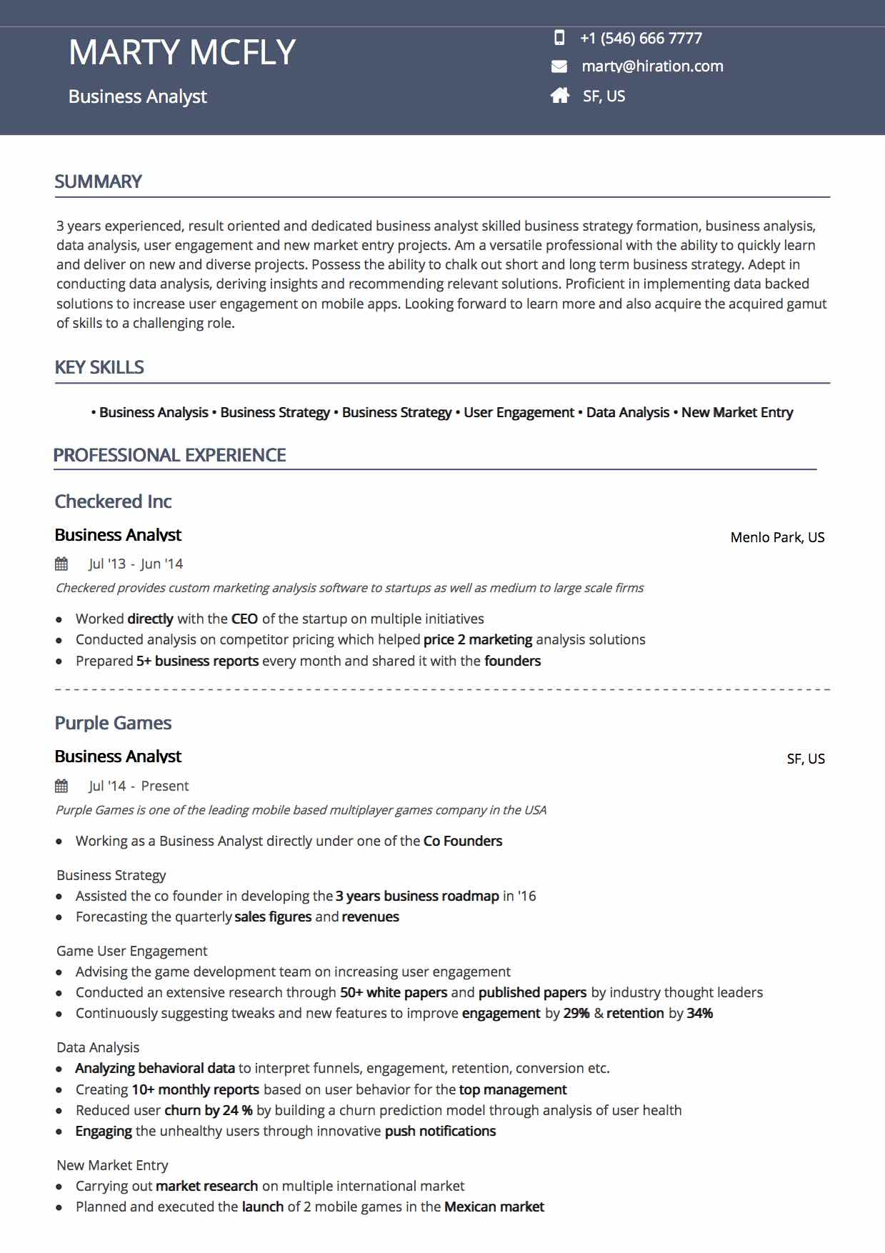 Online Resume Builder by Hiration | 20+ Resume Templates