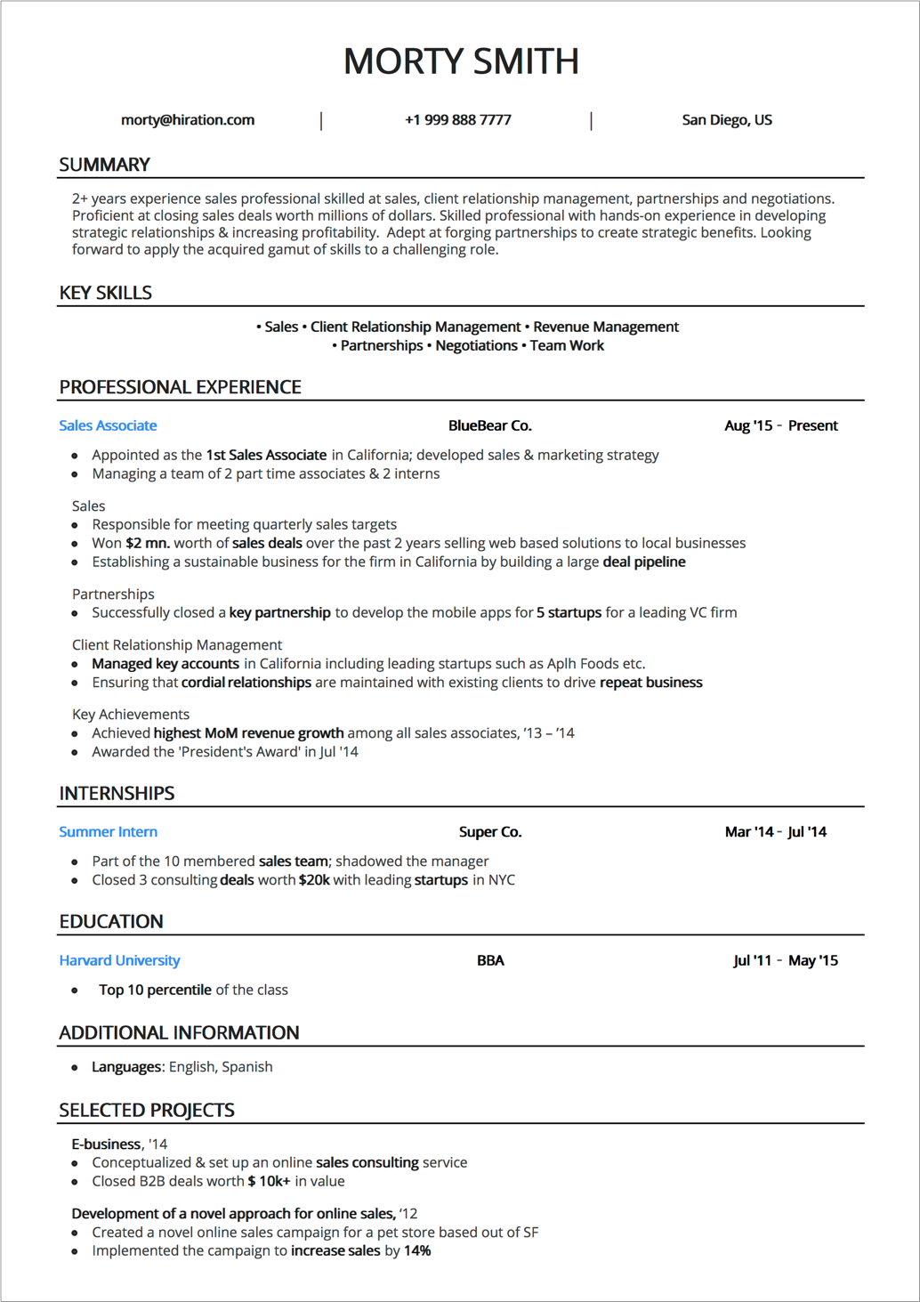 hr manager resume sample by hiration